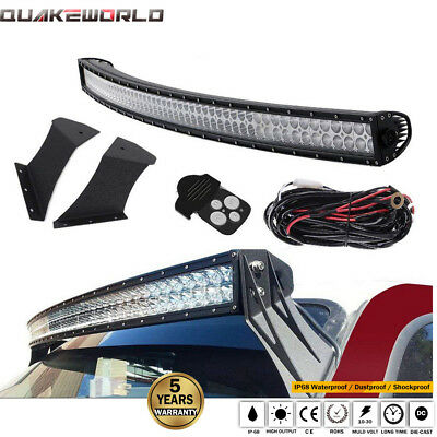 Fit 99-15 Ford F250/350 Super Duty Roof Mount Bracket 54IN LED Curved Light Bar