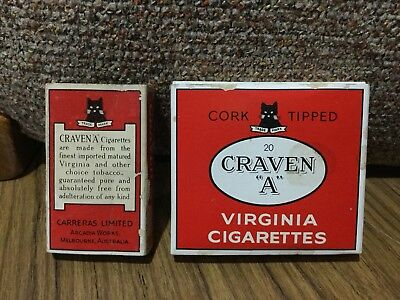 Old Craven A Melbourne Cigarette Advertising Packets