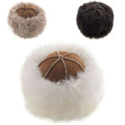 Lambland Womens Ladies Super Soft Luxury Genuine Real Double Faced Sheepskin Hat