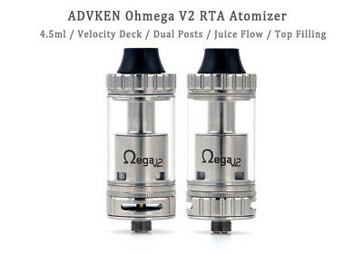 ORIGINAL ADVKEN OHMEGA V2 NEU - RTA VERDAMPFER - Stainless Steel *** TOP ***