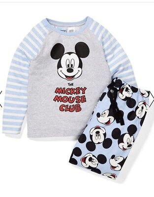 Peter Alexander Boys Mickey Mouse Flannelette PJ Set Size 3 Years RRP$59.95