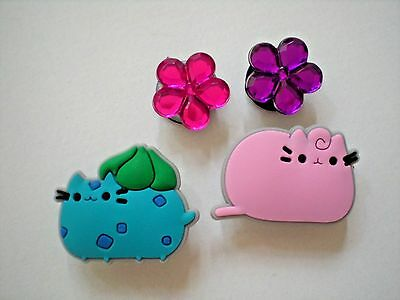 Clog Shoe Charms Button Plug Cats  Flower Accessories WristBands