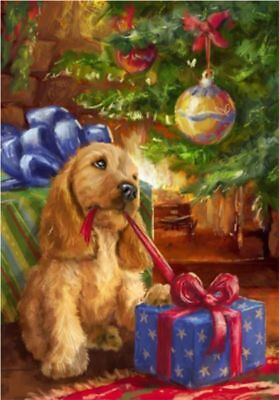 5D DIY Diamond Painting Christmas Gift Dog Cross Stitch Decor Full Drill Picture