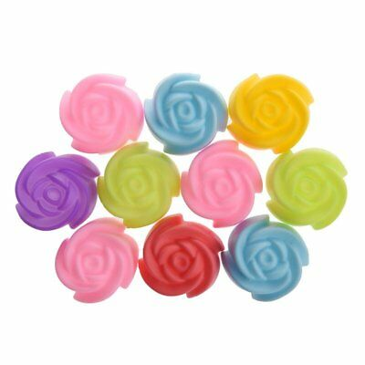 10x Silicone Rose Muffin Cookie Cup Cake Baking Mold Chocolate Jelly Maker A4D5