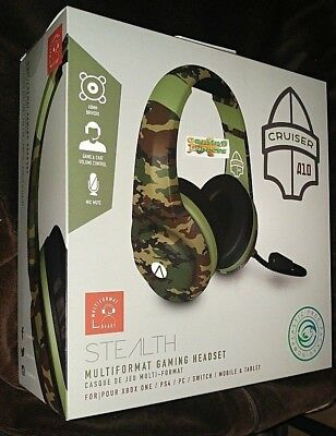 Stealth XP Cruiser Stereo Gaming Headset GREEN Camo Playstation 4 Xbox One +MORE