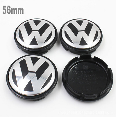 4Pcs 56mm Wheel Center Cap Hub Car Emblem Badge Cover for Volkswagen VW