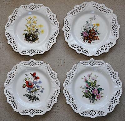 4 Royal Creamware The Floral Gift Limited Edition Collectors Plates