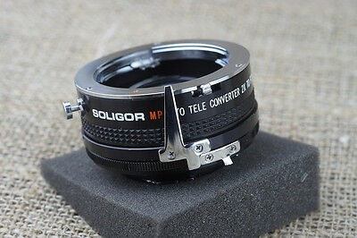 Soligor Minolta MD MC SR Camera lens Tele-Converter x2 fit 45mm 50mm 85mm
