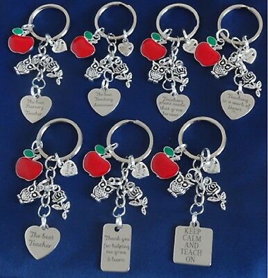 THANK YOU GIFT FOR TEACHER -Teaching assistant Nursery teacher Keyring Apple