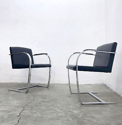 1of2 Brno Cantilever Chair by Mies van der Rohe 1930s Bauhaus Knoll 70s/80s