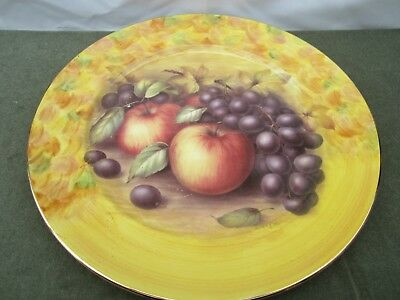 EYEBROW Cottage China Harvest Fruits Large Plate 10.5 inch