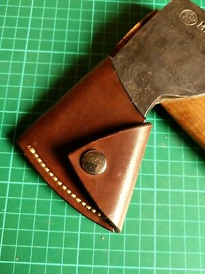 Bushcraft Handmade leather Axe cover to fit Gransfors Bruks Small Forrest Axe