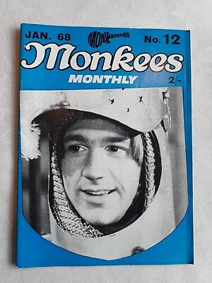THE MONKEES ORIGINAL MONTHLY No 12 JANUARY 1968