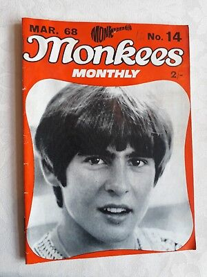 THE MONKEES ORIGINAL MONTHLY No 14 MARCH 1968