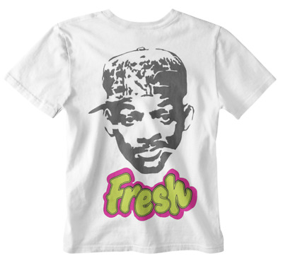 Will Smith The Fresh Prince of Bel-Air inspired 80s 90s homage neon unisex TV