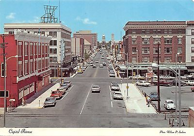 Capitol Avenue Cheyenne Wyoming WY continental size card
