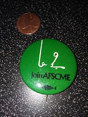 Vintage button/pin AFSCME