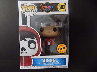 Funko POP CHASE Human Miguel without Hoodie #303 Disney Pixar Coco- NM/Mint Box
