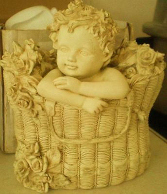 Latex Mould To Make Cute Baby Cherub in Basket Ornament Art & Crafts Hobby