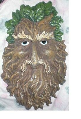 Green Man Plaque, Latex Craft Mould Ornament Reusable Art & Crafts Hobby Wicca 1