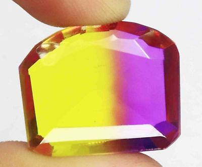 41.95 Ct EGL Certified Fancy Cut Multi Color Ametrine Gemstone 4 Pendant BZ2543