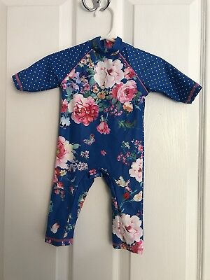 Gorgeous Girls Floral Swimming Costume Sun Safe 3-6 Months Boots Mini Club