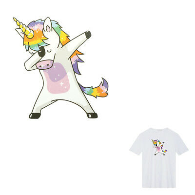 Unicorn Patches Heat Transfer Iron On Parches DIY Washable Clothes Stickers BR