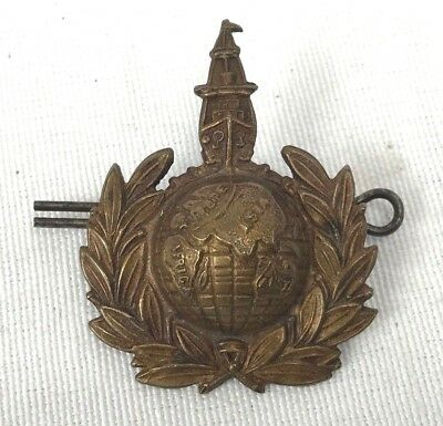 WWI British Royal Marine OSD Cap Badge
