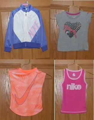 Girls Sports Wear Size 4 5 6 Puma Nike Jacket T-Shirt Tank Dri-Fit Mixed Lot