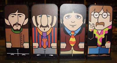 """THE BEATLES CARTOON STANDEES 4"""" Display Figures MDF Statues Desk Decor Doll Toys"""