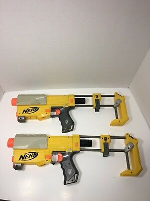 Lot of 2 Nerf N-Strike Elite Recon CS-6  Blasters With Stocks. Tested & Working!