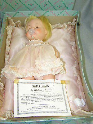 Vintage Madame Alexander Sweet Tears Doll Original Box with Pillow Pacifier