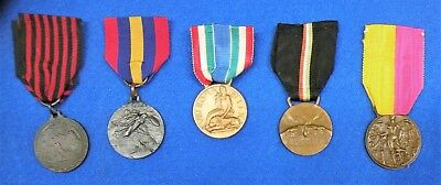 Group Of 5 Early W.w.ii Italian Medals