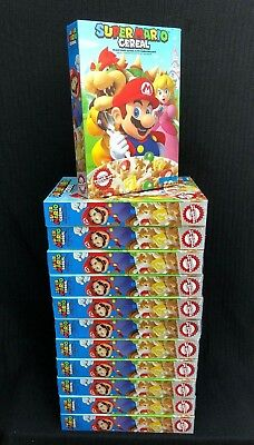 2018 NEW Super Mario Cereal with Bowser & Princess Peach - EXP 3/19 - LOT of 12