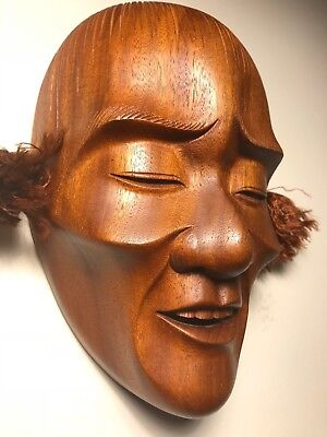 Japanese Fine-Art, Thin/Fragile Man,Yakusugi Wood, Signed: Yamanaka - UNESCO