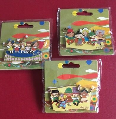 """Disneyland Futuristic Mural """"It's A Small World"""" by Mary Blair Trading Pin Set"""