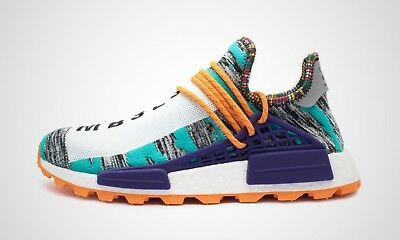 9ef738944 Adidas Pharrell Williams Human Race NMD Hu Solar 8-13 Aqua Orange BB9528
