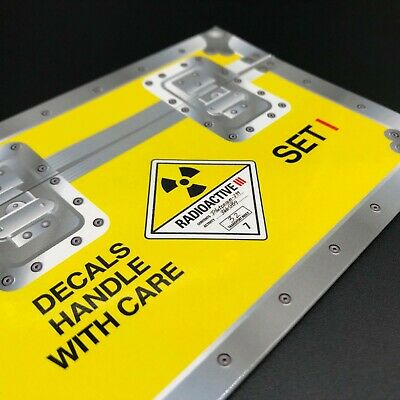 Decal Set 1 for the Eaglemoss 1:8 Build the BTTF Delorean