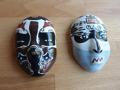1990s porcelain CHINESE THEATRE FACE MASKS