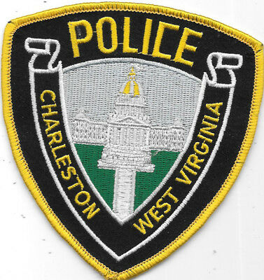 "Police Patch: Charleston West Virginia Police Patch Measures 4"" X 4"""