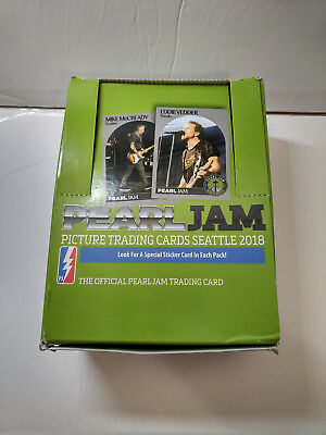 *RARE* Pearl Jam Aug 2018 Seattle Home Shows Trading Cards RETAIL BOX CARTON