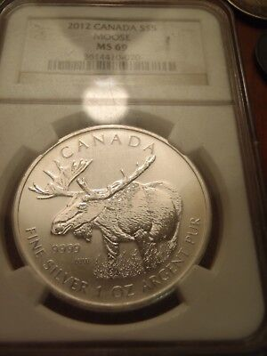 2012 Canada Moose $5  Wildlife Series - Ngc Ms69 - Priced Right!