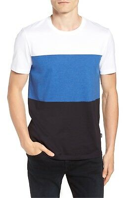 541006f15 Hugo Boss Colorblock T-Shirt Tessler Slim Fit Crewneck Cotton Short Sleeves
