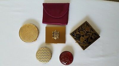 Vintage Antique COMPACT LOT - Estee Lauder Mary Kay Junk Drawer Lot of 5