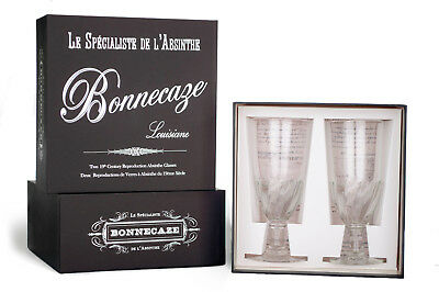 Torsade Absinthe Glasses, Set Of 2, With Gift Box