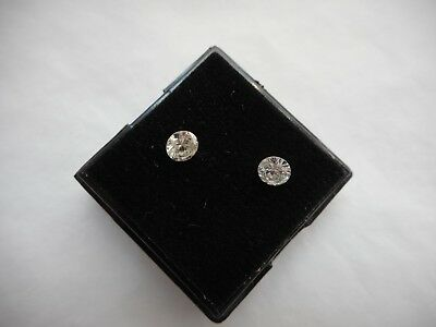 a pair of 4.1mm white diamonds round cut low start £190.00 the pair