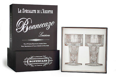 Coupe Absinthe Glasses, Set Of 2, With Gift Box