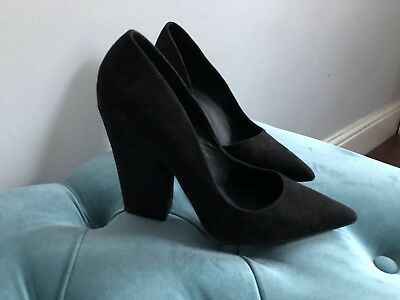 Feith shoes size 6 high herl black