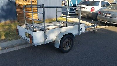 7x4 galvanised frame special trailer