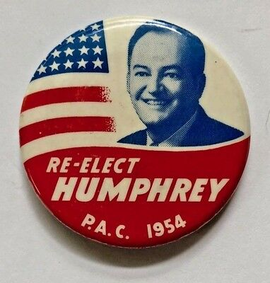Hhh Humphrey Early 1954 Political Advertising Campaign Pin-Back Button.